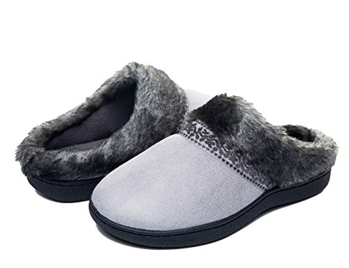 FOOTTECH Women's Memory Foam House Slippers Cozy Soft...