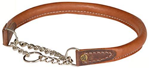 Akah Halsung aus Yak-Leder Hundehalsung für Jagdhunde Hundehalsband von oefele.de robust & strapazierfähig (50 cm)