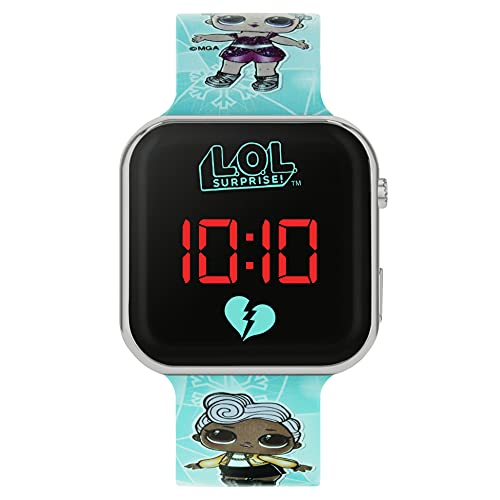 lol surprise Mädchen-Armbanduhr Analog Quarz mit Silikonarmband LOL4531ARG