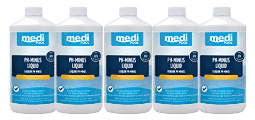 pH-Minus Liquid (flüssig) 5 l - mediPOOL flüssiger pH-Wert Senker - einfach in der Anwendung