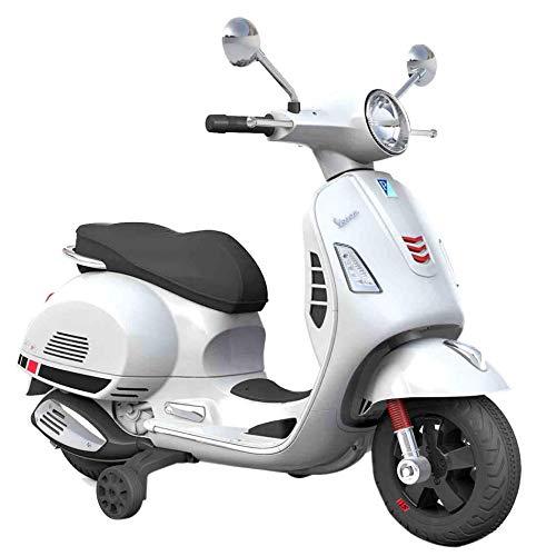 SIP Scootershop Vespa GTS - Patinete eléctrico 12 V, color blanco incluye...