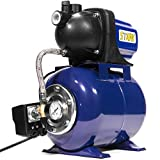 XtremepowerUS 1.6HP Shallow Well Pump Tank Garden Water Pump Booster System Pressurized Farm Irrigation 1000GPH, 1200W