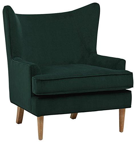 Amazon Brand – Rivet Chelsea Velvet Wing-Back Accent Chair, Otter Grey
