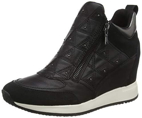 Geox Damen D NYDAME D Sneaker, Schwarz (Black C9999), 36 EU