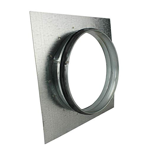 VONLIS Brida de pared para conducto en espiral, junta para placa de pared, ventilación en espiral, diámetro de 150 mm