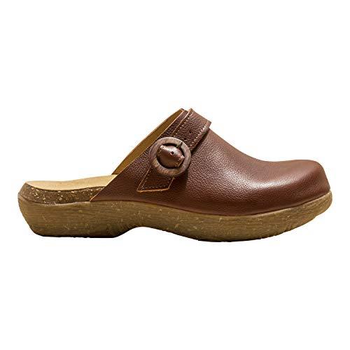 El Naturalista Mujer Sandalias achineladas WAKATIWAI, señora Zuecos,Zapato de jardín,Suela de Plataforma,Zapatillas,Marrón (Wood),38 EU / 5 UK