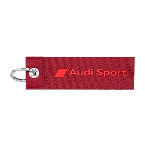 Audi 3182000300 Schlüsselanhänger Sport Logo Emblem Schlüsselband Keyring Schlaufe, rot