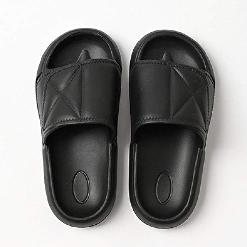 B/H Pool Shoes Bathroom Water Shoes,Summer non-slip indoor bath slippers, wear soft bottom beach shoes-black_UK4.5-UK5,Fitness Sandals