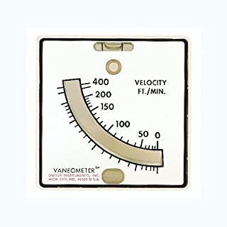 Dwyer Vaneometer Swing Vane Anemometer, 25-400 FPM