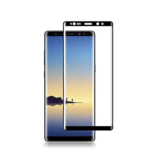 [2 Pack] Galaxy Note 8 HD Clear Screen Protector, Protective Film [3D Curved][Anti-Scratch] [Case Friendly] 9H Hardness Tempered Glass Full Coverage Screen Protector,for Samsung Galaxy Note 8