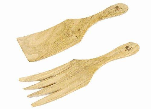 Berard Olivier fabriqué à la main Large Spaghetti/Couverts à salade par Berard