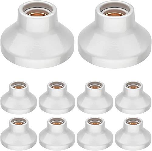 BETOY Lampenfassung, rund-Fassung,rund, E27, Weiß, Für Lampe Halter 10 Pack
