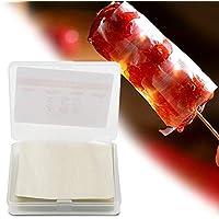 Envoltura de Caramelos - 500 Piezas de Papel de turrón, Papel de oblea de arroz Comestible, Hojas de Envoltura de Caramelo Hechas a Mano