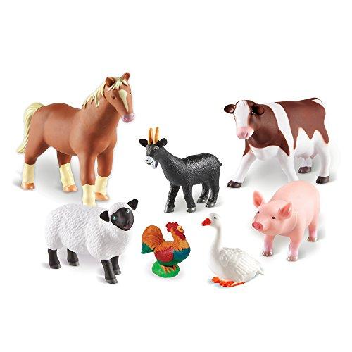 Learning Resources- Animali della Fattoria Jumbo, Colore, LER0694