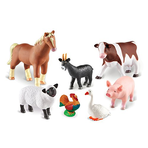Learning Resources- Animales de Granja Jumbo, Color (LER0694