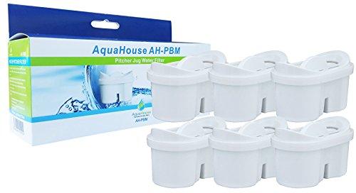 AquaHouse Compatible Filtre avec Cartouches MAXTRA pour Carafes Filtrantes - Pack de 6