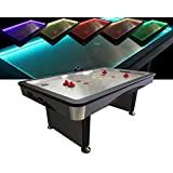Charlsten Airhockey Tisch mit Multi LED Effekten 7ft