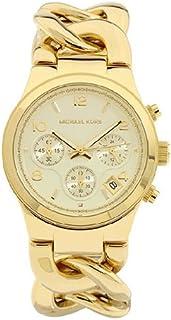 ساعة رانواي بسوار من الستانلس ستيل ومينا بالذهبي الفاتح للنساء من مايكل كورس - MK3131