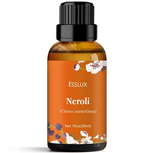 ESSLUX Aceite Esencial de Neroli, Aceites Esenciales para Difusor, Masaje, Jabón, Fabricación de Velas, Perfume, 30 ml