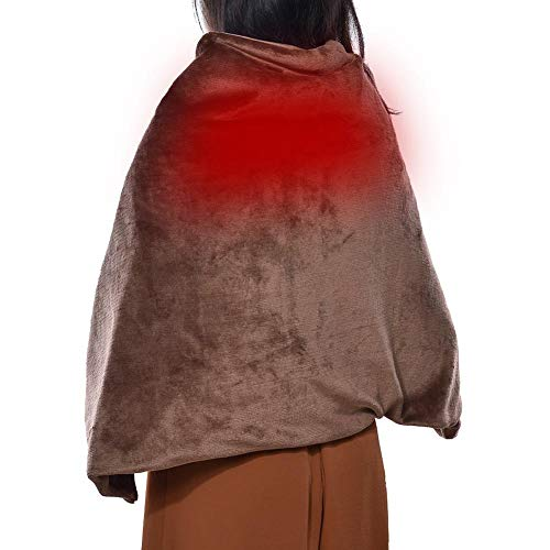 pegtopone - Manta eléctrica para Cuello, Hombros y Espalda, con Apagado automático,...