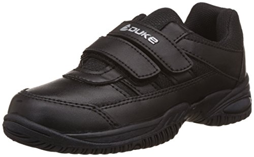Duke Unisex Black School Shoes -Kids 7 UK/India (25 EU)