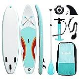 Triclicks Tabla Hinchable Paddle Surf/Sup Paddel Surf con Bomba, Mochila, Aleta Central Desprendible, Kit de Reparación, Remo Ajustable, La Cinta para Atar al Pie(300 * 75 * 15cm-Grosor) (Style 5)