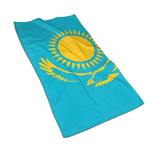 Handtücher Kasachstan Flagge Dünnes Badetuch, Ultraweiches, hochsaugfähiges kleines Badetuch Baddekor, 27,5 x 15,7 Zoll