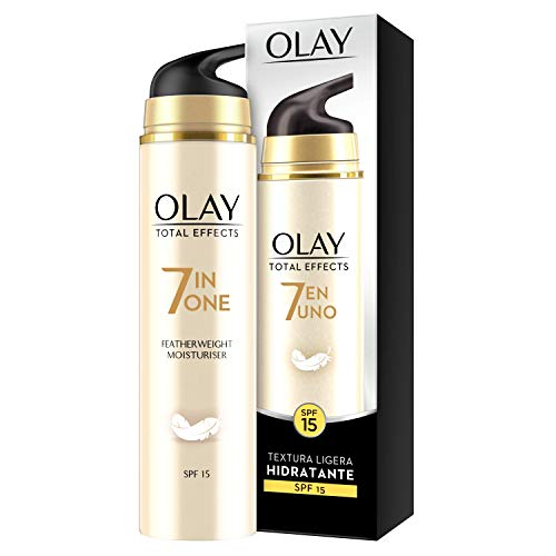 Olay Total Effects 7 en 1, Crema diurna facial (anti-arrugas, SPF15, piel seca), 50 ml.