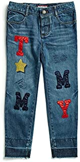 Tommy Hilfiger Girls' Adaptive Skinny Jeans with Adjustable Waist and Magnet Buttons