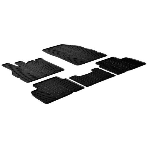 Gledring Set tapis de caoutchouc Renault Scenic III 2009-2016 (T profil 5-pièces)