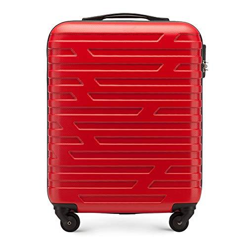 Stabiler Koffer-Trolley Handgepäck von WITTCHEN ABS 54 x 39 x 23 cm 2.8 kg 38 L Rot Bordgepäck Bordcase 56-3A-391-30