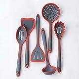 GWFVA Set di Utensili da Cucina in Silicone, pentole a Sei Pezzi Senza BPA, Cucchiaio, Spade, Usato per Cucinare, cuocere, mescolare, Utensili da Cucina per Uso Domestico ad Alta Temperatura
