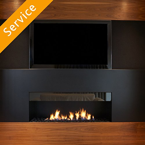 Electric Fireplace Installation - Outside Wall