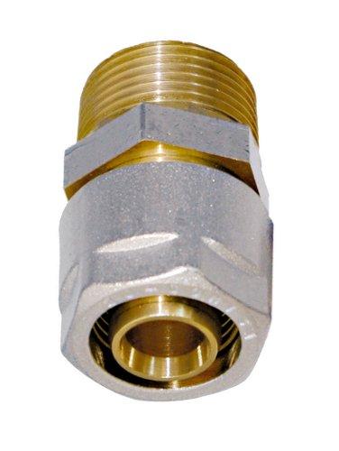 WIROFLEX | Klemmring-Verschraubung inklusive Adapter | Komplettlösung | Schraubsystem | 20 mm x 1/2 AG | Für Mehrschichtverbundrohr