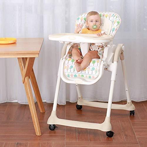 ALXLX kinderstoel, gevoerde stoel met uitneembaar dienblad en 3-punts veiligheidsgordel, verstelbare rugleuning en inklapbaar