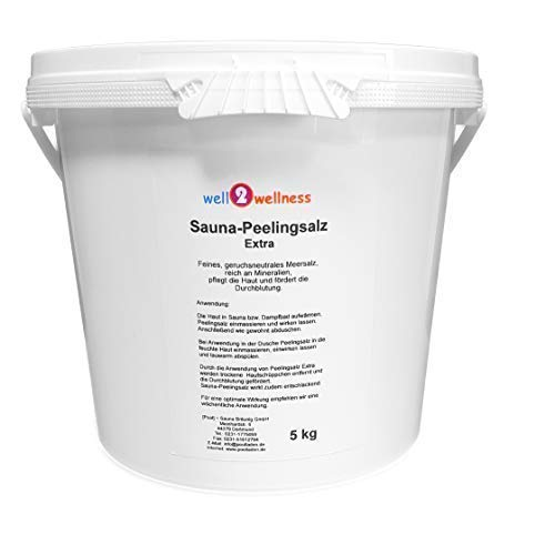 Sauna Peelingsalz Extra/Saunasalz fein 5,0 kg - 100% naturrein aus dem Toten Meer