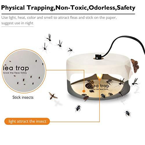 Sumeber Klebrige Kuppel Smart Trap + 2 Leimscheiben; Wirksam Gegen Flöhe, Mücken und Andere Kleine Insekten (SK111) - 6