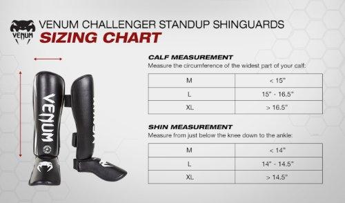Venum Challenger Standup Shinguards, Black, Medium