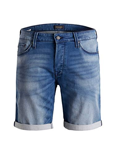 JACK & JONES Herren Jeansshorts Regular Fit Indigo Knit SBlue Denim