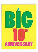 NobleWorks – 10周年記念カード (8.5 x 11インチ) – ジャンボカード 10年 大きな結婚カップルおめでとう – Big 10 J9080MAG