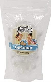 Coconut Old Fashion Hard Candy Hawaii, 8 Ounce Resealable Bag
