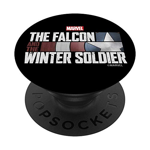 Marvel The Falcon And The Winter Soldier Title Logo PopSockets PopGrip: Swappable Grip for Phones & Tablets