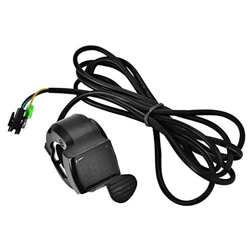 Niiyen Acelerador de Pulgar, Acelerador de Scooter, Acelerador de Pulgar para Scooter eléctrico con Pantalla LCD, Accesorio de Pantalla de Voltaje de batería para Bicicleta eléctrica, Scooter