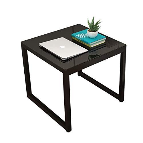 LSX - salontafel kleine salontafel, een paar kleine salontafel vierkant kant kant gehard glas Hotel kleine salontafel (4 kleuren). bijzettafel