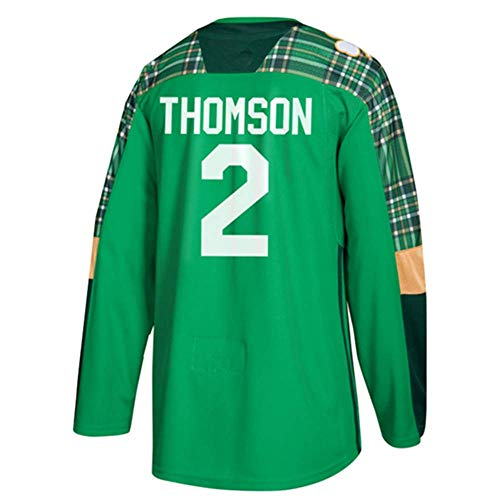 HEMWY mannen/vrouwen/Youth_Lassi_Thomson_#2_Green_Game_Sportswears_Training_Hockey_Jersey S-XXXL