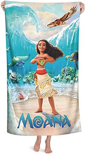 Moana - Toalla de playa infantil, diseño de Moana, toalla de baño unisex absorbente, toalla de playa y piscina (Moana 2,90 cm x 180 cm)
