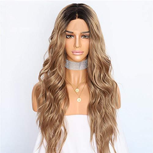 Postizos para mujeres Producto Explosión Moda Damas Europa y América Peluca Frontal Encaje Larga Peluca de pelo rizado Peluca