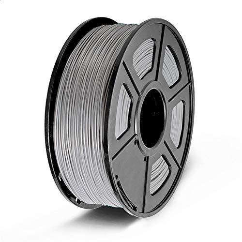 YANGDONG 1kg PLA Plus-Filament, Genauigkeitsdimension 1.75mm +/- 0,02mm Multi-Farben, Zur Auswahl 3D-Drucker Filament-Kunststoff-PLA (Color : PLA Grey)