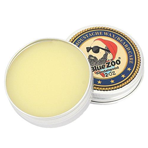 MagiDeal Barbe Baume Beard Balm Cire de Moustache pour Réduire les Frisottis Adoucir la Moustache et Hydrate la Peau Sèche - Bois Santal