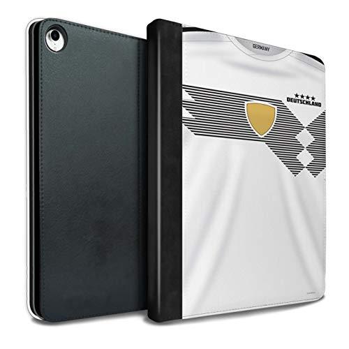 eSwish - Funda de Piel sintética para Libros y Camisetas de fútbol de la Copa del Mundo 2018 Alemania iPad Pro 10.5 (2017)